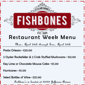 Fishbone's Menu